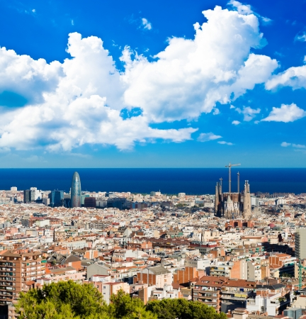 Cityscape of Barcelona. Spain. Stockfoto
