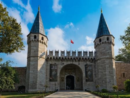 topkapi: Entrance of the Topkapi palace, istanbul.