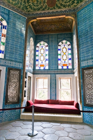 topkapi: Interior of the Topkapi palace in Istanbul, Turkey