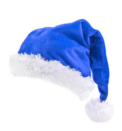 Blue  Santa Claus hat 스톡 콘텐츠