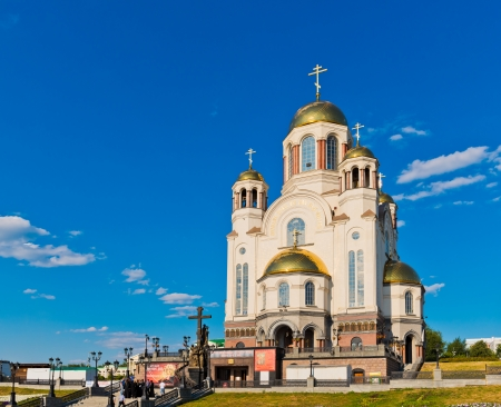 YEKATERINBURG, RUSSIA - JULY 09: Church on Blood in Honour on July 09, 2012. Church built on the site  where Nicholas II, the last Emperor of Russia and his family were shot by the Bolsheviks in 1918