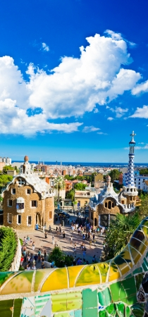 guell: Park Guell in Barcelona, Spain.