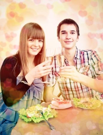 couple celebrates Valentine's Day photo