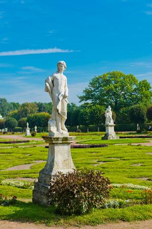 kuskovo: White statues in the Park of Kuskovo. Moscow. Russia