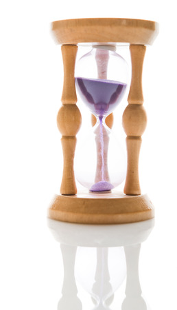 Hourglass isolated  photo