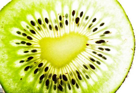 organic background:  green kiwi fruit  Stock Photo
