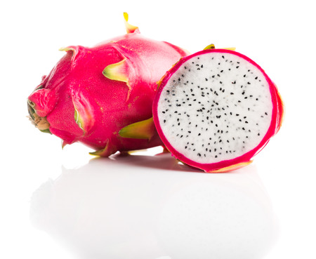 Dragon Fruit isolated against white background.  photo