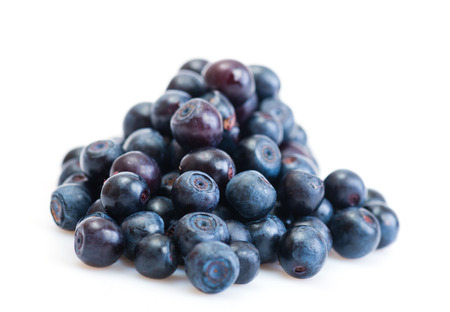 Group of fresh blueberries isolated on white background.  photo