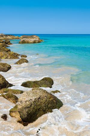 Tropical stones beach. Phuket island. Thailand  photo