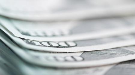 new one Hundred Dollar Bills (shallow DOF)  photo