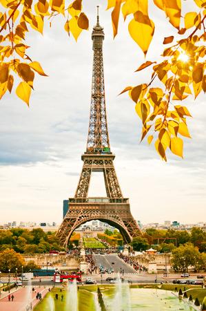 Paris, the beautiful Eiffel Tower. photo