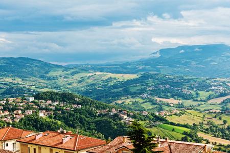 san marino: San Marino landscape.  Stock Photo
