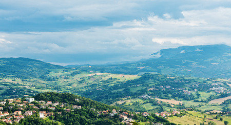 sammarinese: Paesaggio di San Marino.