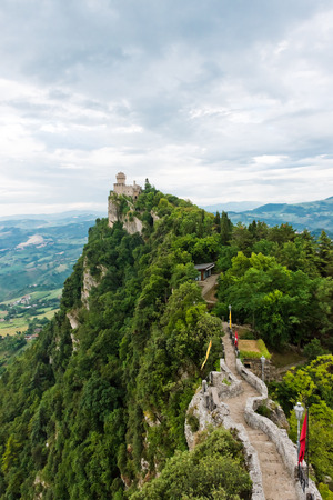Summer photo of San Marino second tower: the Cesta or Fratta  photo