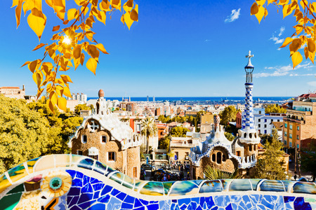 guell: Park Guell in Barcelona, Spain (built in the years 1900 to 1914)