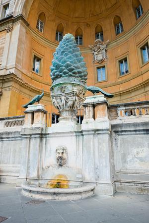 1st century: Fontana della Pigna Pine Cone Fountain from the 1st century AD, Vatican, Rome  Stock Photo