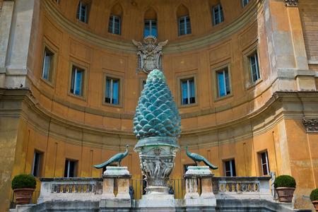 1st century ad: Fontana della Pigna Pine Cone Fountain from the 1st century AD, Vatican, Rome  Stock Photo