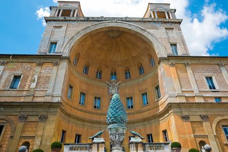 1st century: Fontana della Pigna Pine Cone Fountain from the 1st century AD, Vatican, Rome  Editorial