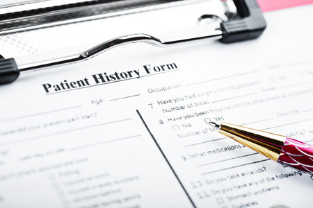 medical history: Medical history questionnaire