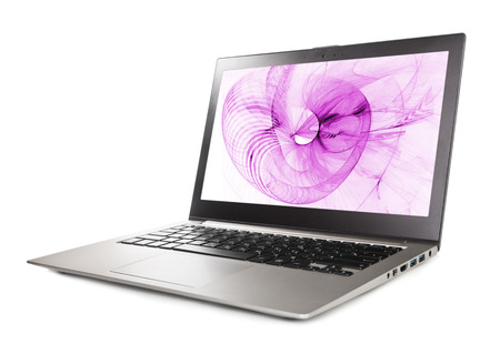 laptop computer with abstract background on monitor