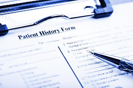 historia clinica: Cuestionario sobre su historial médico