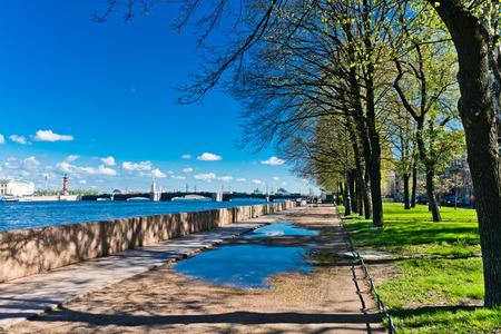Embankment of the Neva river. St. Petersburg, Russia