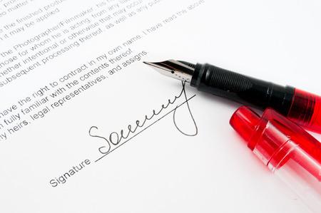 The signature concept. photo