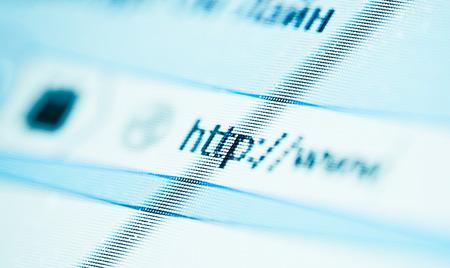 Internet address, computer screen photo