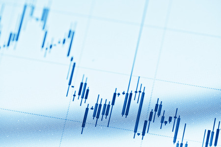 Stock diagram on the screen Stock Photo