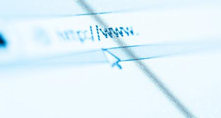 address bar: Computer Screen With Address Bar of Web Browser
