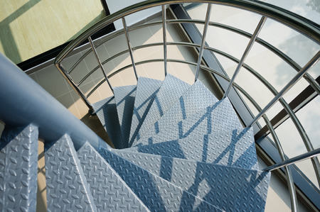 metal handrail: iron spiral stair