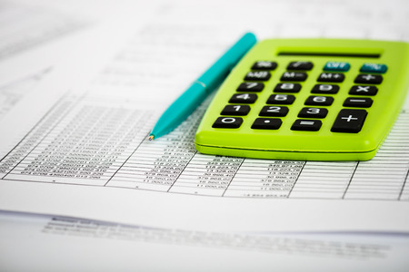 taxes budgeting: Financial accounting Stock Photo