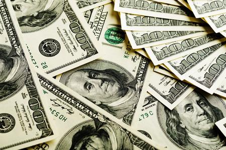 dinero: Fondo con dinero americano cien billetes de un d?lar