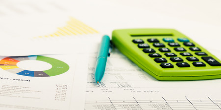 budget crisis: Financial accounting Stock Photo