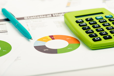 financial figure: Financial accounting Stock Photo