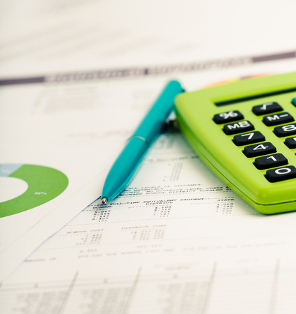 sales growth: Financial accounting Stock Photo