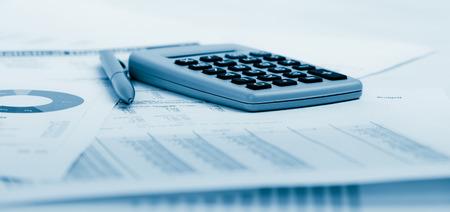 Financiële boekhouding. Blue afgezwakt Stockfoto - 40842423