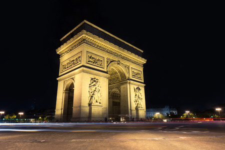 traditionally french: Arc de Triomphe Paris city  - Arch of Triumph