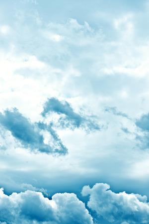 ominous: Dark ominous clouds. Dramatic sky background Stock Photo
