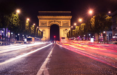 traditionally french: Paris, Champs-Elysees at night