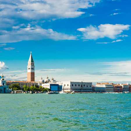 campanile: sea view Piazza San Marco with Campanile and Doge Palace Stock Photo