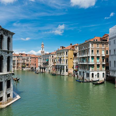 grande: Famous Canal Grande in Venice, Italy Stock Photo