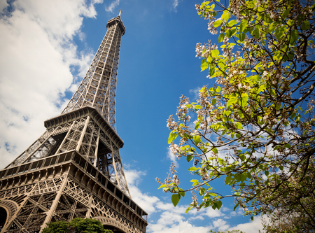 eiffel: famous Eiffel Tower in Paris, France.. Instagram style filtred image