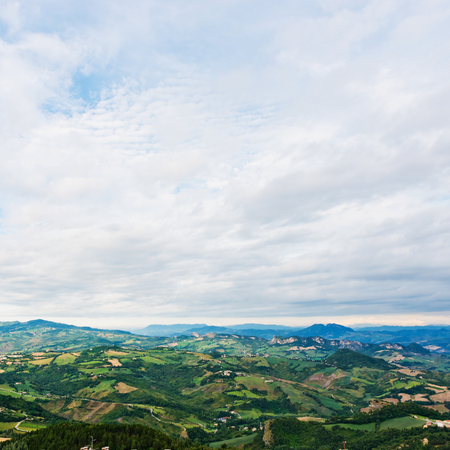 italy street: San Marino landscape.