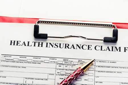 reimbursement: insurance claim form, paperwork and legal document, accidental and insurance concepts
