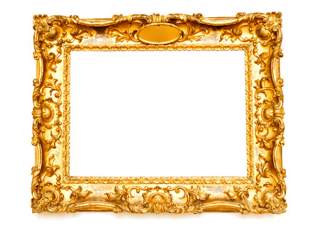 baroque border: Golden frame