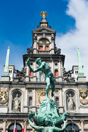 Townhall on the Great Market Square of Antwerp, Belgium