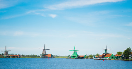 zaanse: Windmills of the Zaanse Schans (near Amsterdam)