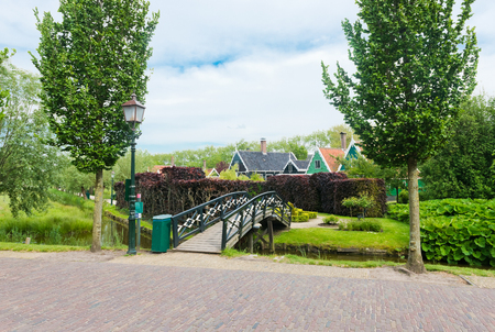 zaanse: Bridge in the Zaanse Schans (near Amsterdam)