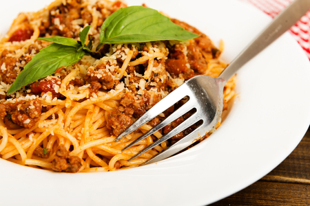 Parmesan: spaghetti bolognese with  parmesan cheese